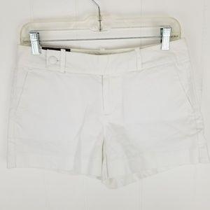 Banana Republic 4P Petite White Martin Fit Shorts